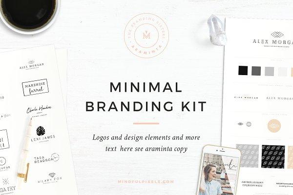 Logo Templates: Mindful Pixels - Minimal Brand Design Kit ~ Araminta