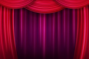 Color theater curtain