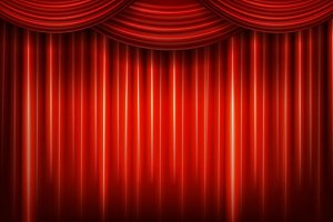 3 Red theater curtains