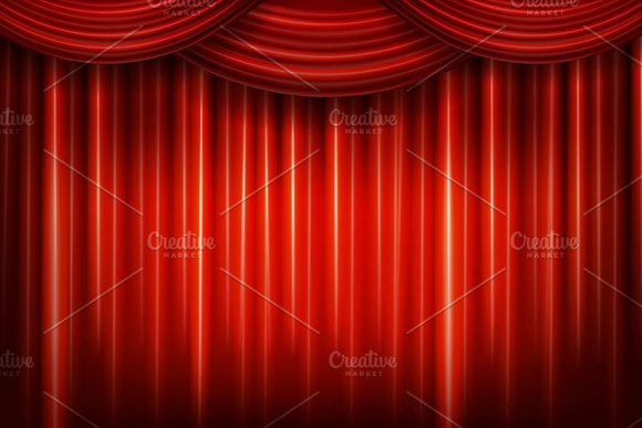 3 red theater curtains graphics creative market