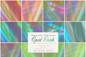 Gemstone:  Opal Flash Textures