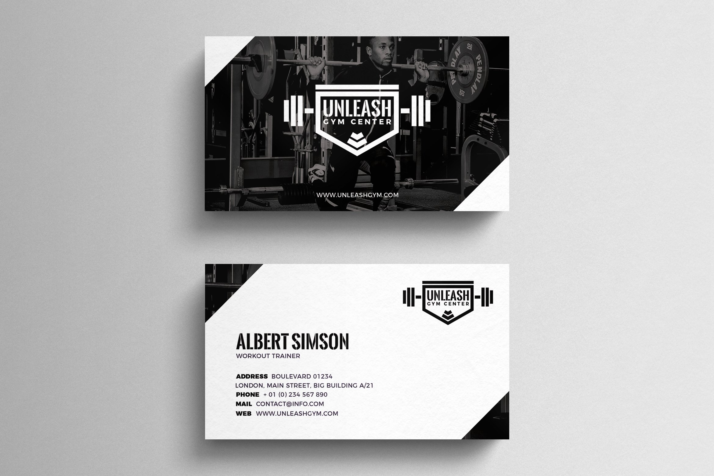 Gym Business Card Template ~ Business Card Templates ~ Creative Market