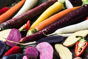 Colorful Vegetables on Tray
