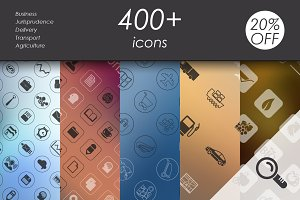 400+ vector icons