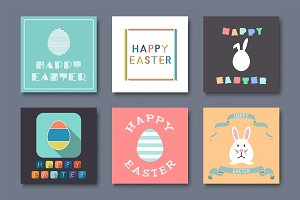 Holiday Greeting Easter Cards.