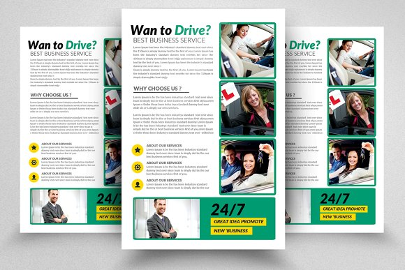 Driving Learning School Flyer Temp