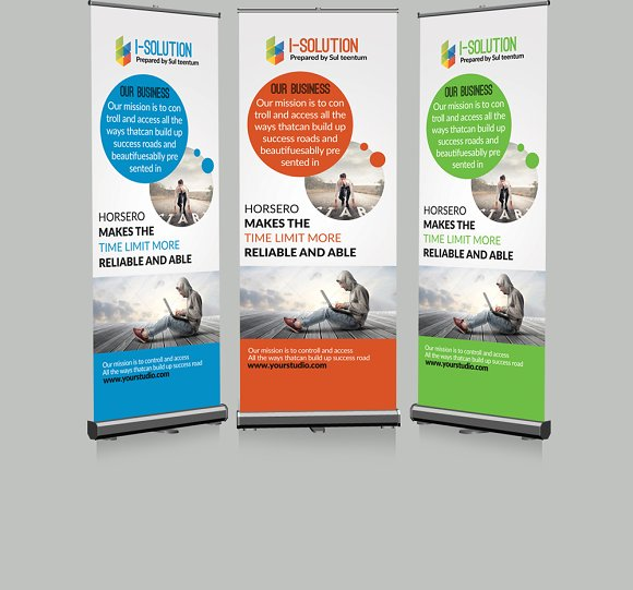 creative roll up banner presentation templates. Black Bedroom Furniture Sets. Home Design Ideas
