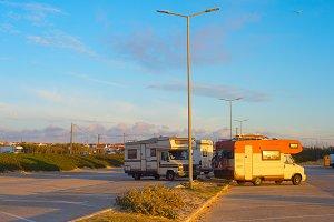 Caravan car parking