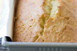 Pound Cake in Baking Pan