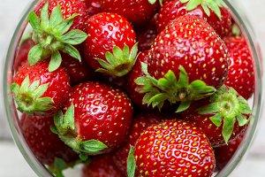 Strawberries in Jar, Square
