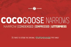 Cocogoose Narrows - 35 Fonts