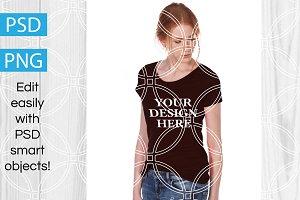 Women's T-Shirt Product Mockup