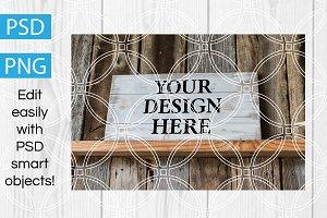 Wooden Sign Design Mockup