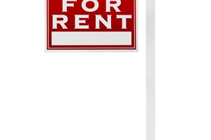For Rent Real Estate Sign