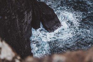 High Cliffs and Crashing Waves