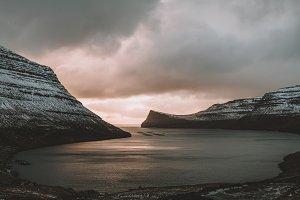 Sunrise over Fjord in Scandinavia