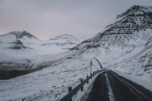 Slippery Mountain Road in Winter