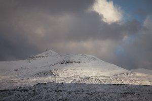 Winter Light over Mountain Range