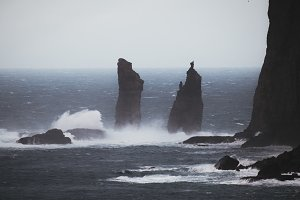 Dark Rocks and Stormy Weather