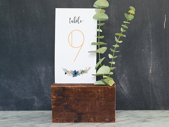DIY Printable Wedding Table Numbers