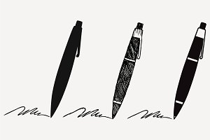 pen silhouette vector SVG DXF PNG