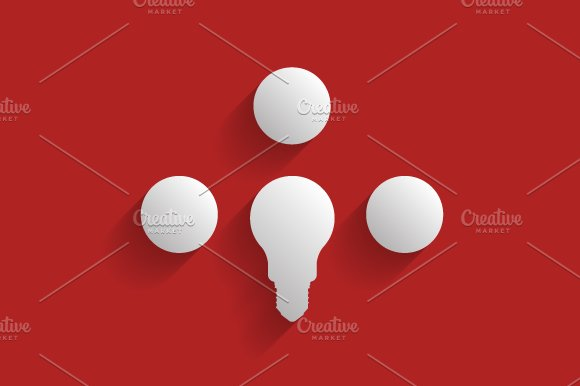 Light bulb infographic in Illustrations - product preview 4