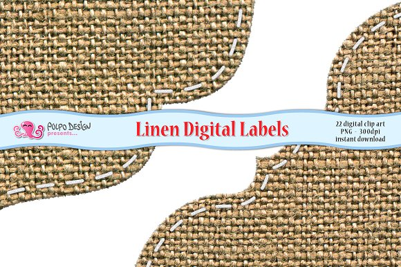 Linen Digital Labels