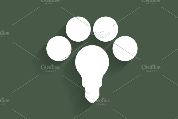 Light bulb infographic in Illustrations - product preview 3