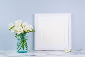 White Square Frame Mock-up