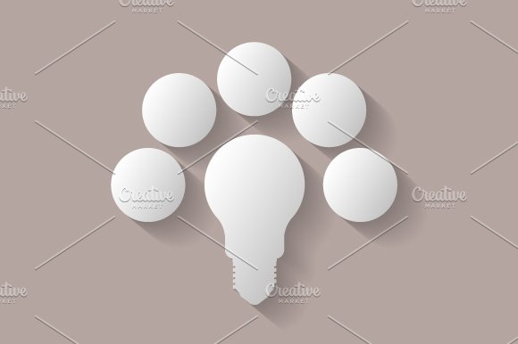 Light bulb infographic in Illustrations - product preview 2