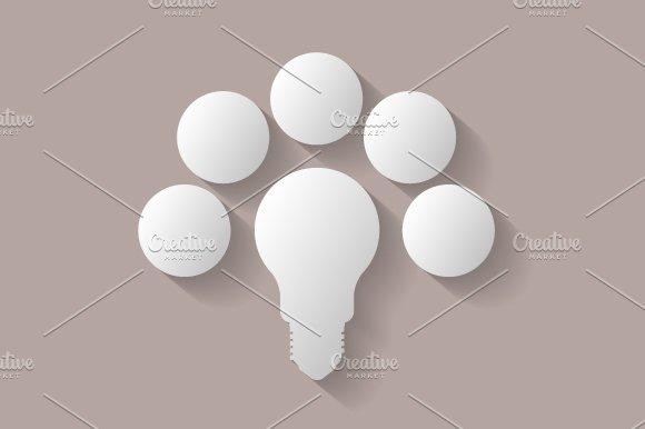 Light bulb infographic