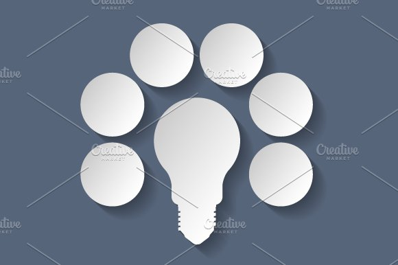 Light bulb infographic in Illustrations - product preview 1