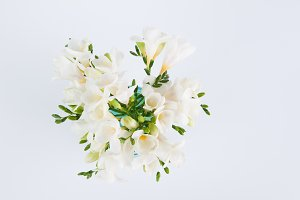 White Freesia Flower Bouquet