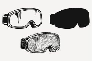 ski goggles vector SVG DXF PNG DXF