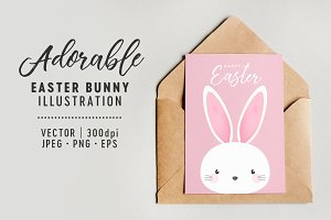 Easter Bunny Vector Illustration