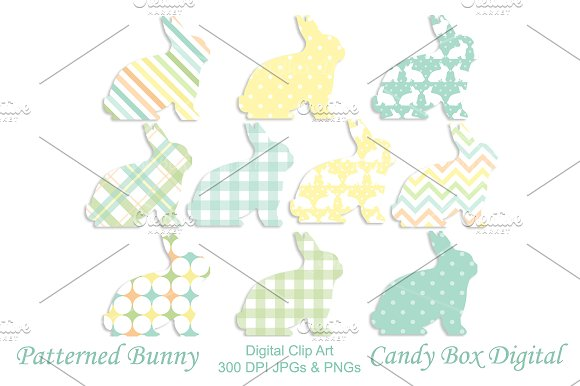 Easter Bunny Shapes
