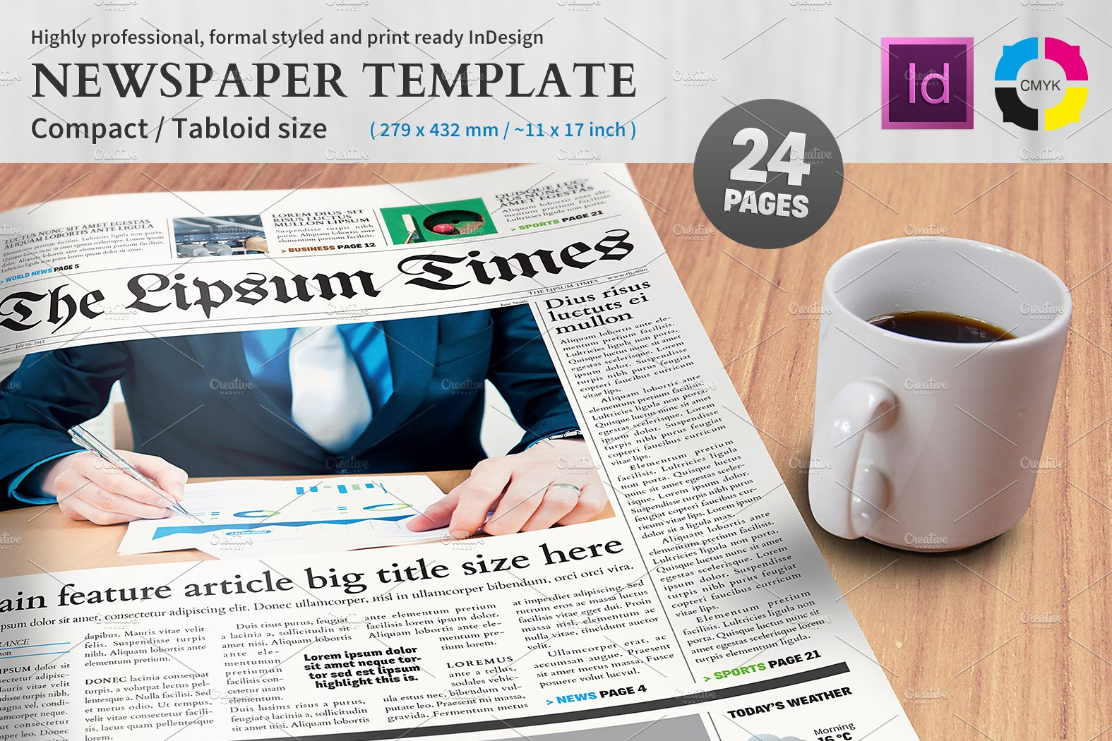 newspaper template compact tabloid magazine templates creative