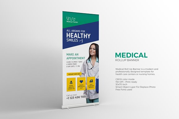 Medical Roll-Up Banner