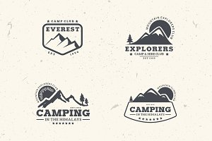 Mountain Badges & Logos