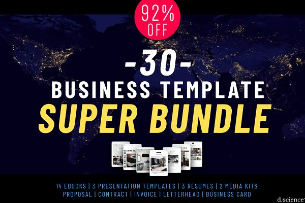 92% Off Business SUPER BUNDLE!
