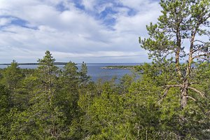 Northern shores of the Lake Ladoga