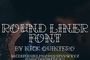 Round Liner Font