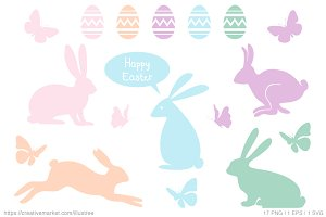 Easter set, vector design elements