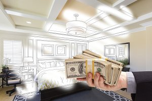 Giving Money Over Room Drawing/Photo