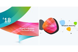 Set of abstract vector design for graphic template.
