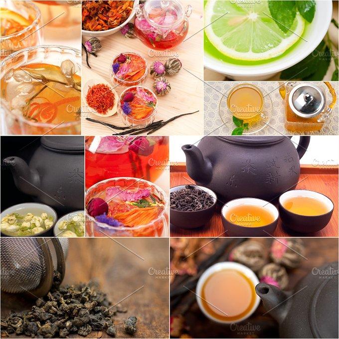 tea infusion tisane collage 1.jpg - Food & Drink