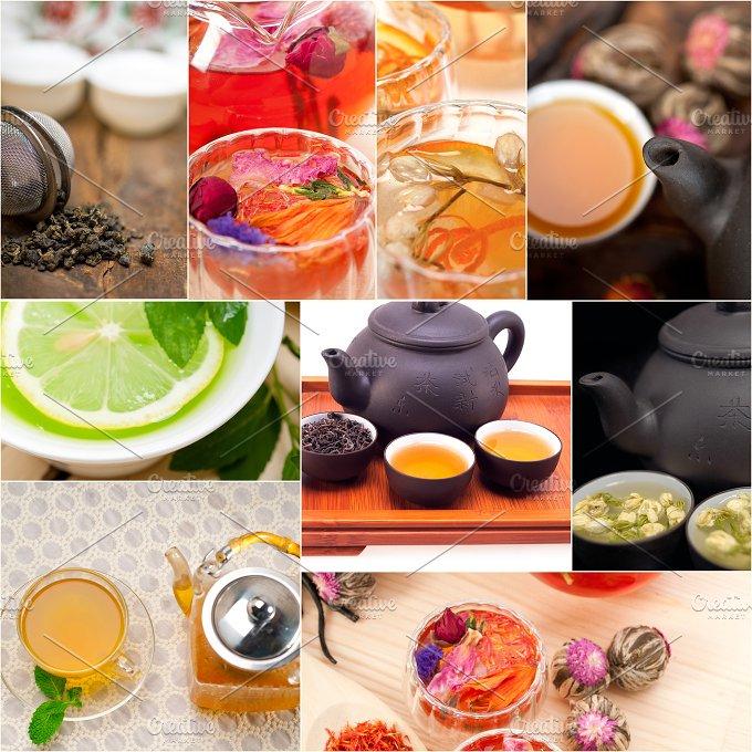 tea infusion tisane collage 2.jpg - Food & Drink