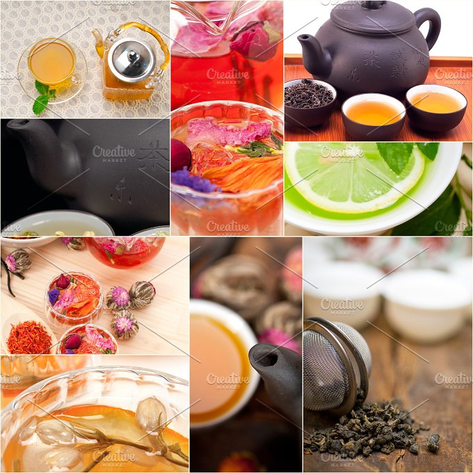 tea infusion tisane collage 5.jpg - Food & Drink