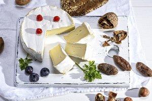 round Camembert cheese