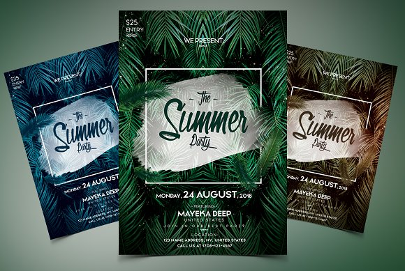 The Summer Party PSD Event Flyer